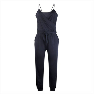 Spaghetti Strap Pure Color Jumpsuits - S / Blue - Jumpsuits