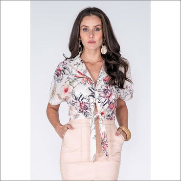 Tie Shirt - M - Women's Clothing