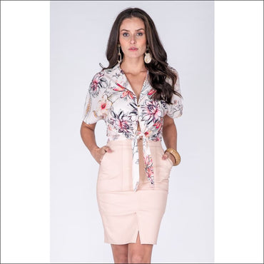 Tie Shirt - Women's Clothing