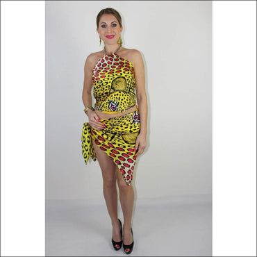 Yellow Leopard silk top - gold - Tops & Pareos