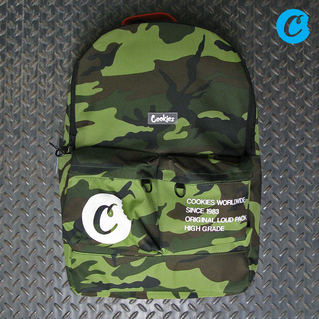 Cookies Orion Canvas Nylon Smell Proof Backpack With Print & Rubber Logo 1540A3775