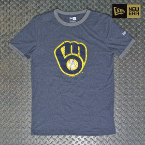 New Era Milwaukee Brewers Cooperstown Collection Short Sleeve Ringer T-Shirt NE97081M