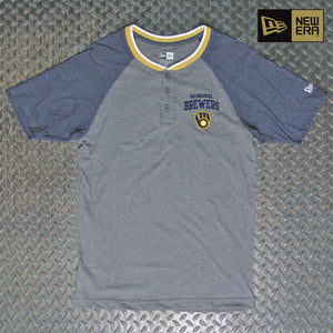 New Era Milwaukee Brewers Short Sleeve Henley NE97080M