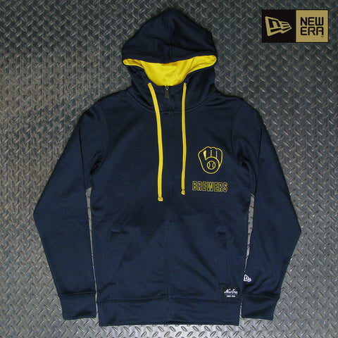 New Era Milwaukee Brewers Zip Up Hoodie NE96070M