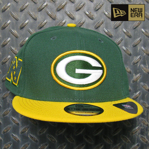 New Era Green Bay Packers Team Patch 9FIFTY Snapback Hat 80395534