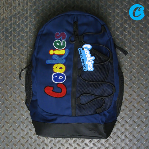 "Cookies The Bungee ""Smell Proof"" Nylon Backpack With Chenille Lettering 1542A3904"