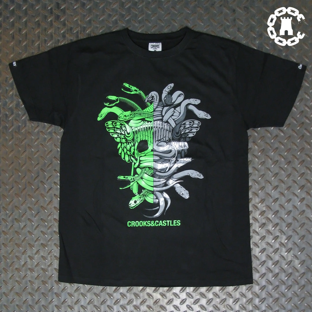 Crooks & Castles Half Medusa Glow In The Dark T-Shirt C2050735