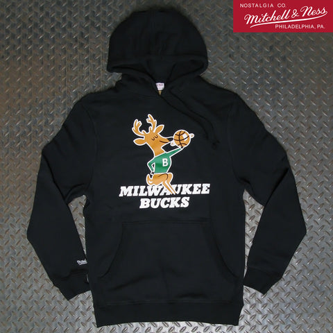 Mitchell & Ness Milwaukee Bucks Fleece Hoodie BMPHCW18299-MBUBLCK