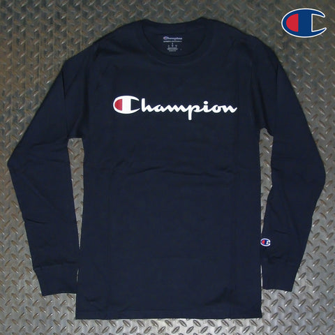 Champion Script Logo Long Sleeve T-Shirt GT78HY06794