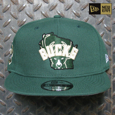 New Era Milwaukee Bucks Local 9FIFTY Snapback 60120657