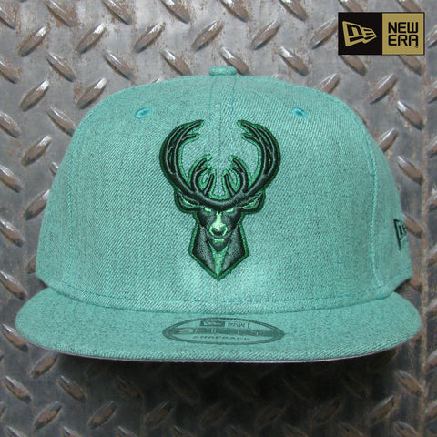 New Era Milwaukee Bucks Heather Classic 9FIFTY Snapback 60114259