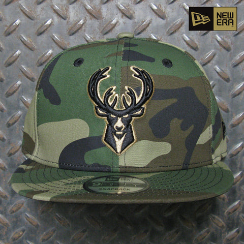 New Era Milwaukee Bucks Woodland 9FIFTY Snapback 70598875