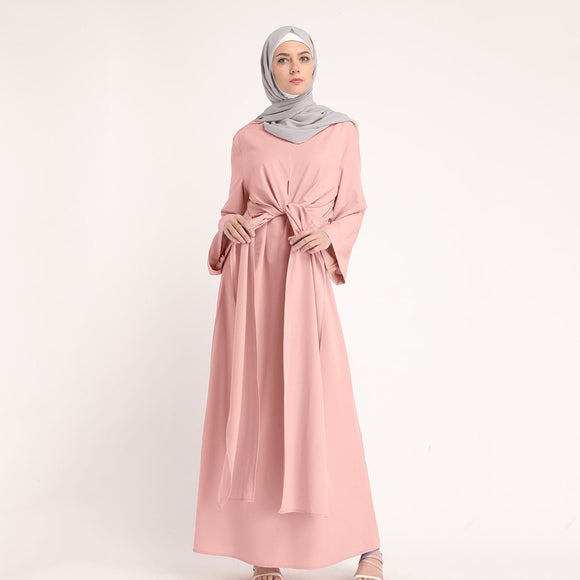Two-Piece Sleeve Long Dress