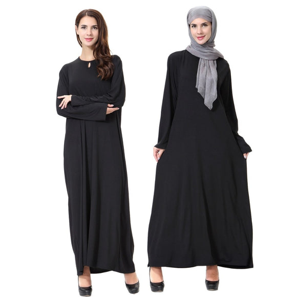 Plus Size Latest Arab Elegant Abaya Kaftan Islamich Fashion Muslim Dress Clothing Design Women Black Dubai Abaya Milk Wire