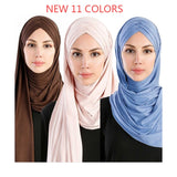 Plain Bubble Cotton Jersey  Hijab