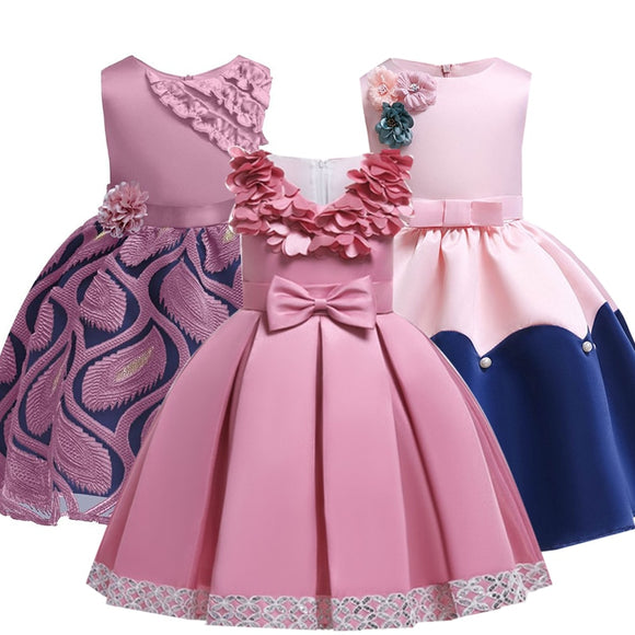 2019 Summer Elegant Children Princess Kids Dresses For Girls Evening Praty Tutu Dress Flower Girls Wedding Dress 4 6 10 12 Year