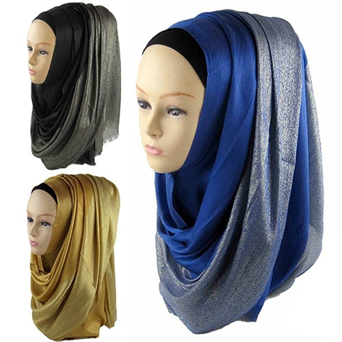 New Fashion Women Head Scarf Muslim Islamic Neck Hijab Winter Warm Long Scarf Shawl Headwear 3 Colors