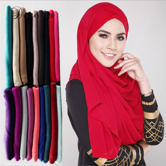 Muslim Jersey Hijab Scarf Plain Cotton Head Wrap Turban Solid Maxi Abaya Instant Hijab Arab Islamic Long Loop Shawls Scarves New