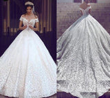 Luxury Dubai Arabic Wedding Dress 2019 Ball Gown Vestido de noiva Lace Appliques Sweetheart Bridal Gowns Long Train Bride Dress