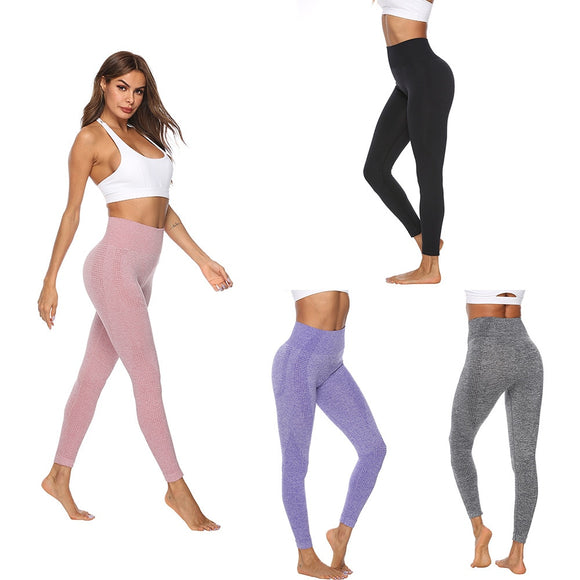 2019 Women Gym Pants Sport Running Exercise Leggins Workout High Waist Push Up Trouser  Anti cellulite Vital Seamless Leggings