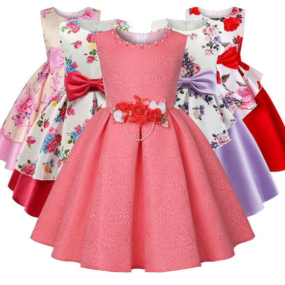 Children clothing girl princess party dress kids christmas costume wedding dresses baby tutu clothes 2 3 4 5 6 7 8 9 10 years