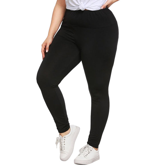 Fashion Plus Size Women Fitness Leggings Solid Pure High Waist Skinny Skinny Exercise Workout Leggins Jeggings Femme Bottoms