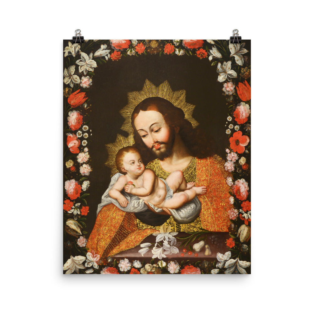 San Jose con Nino Cristo - St. Joseph with the Christ Child