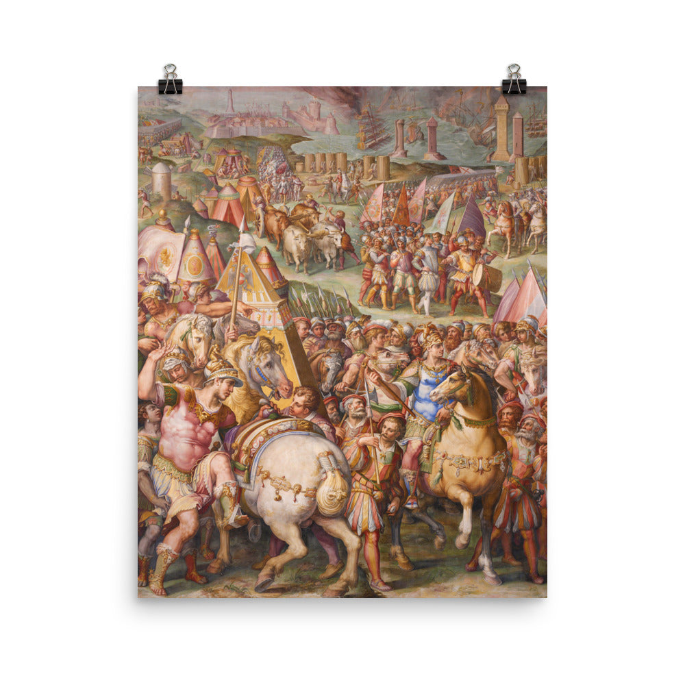 The emperor Massimiliano Lifts the Siege from Livorno