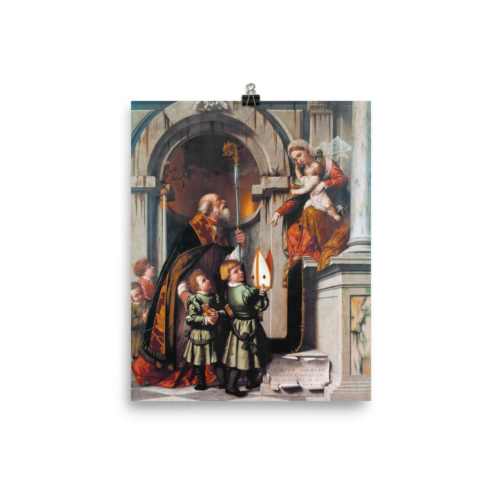 St. Nicholas presents Students to Virgin and Child