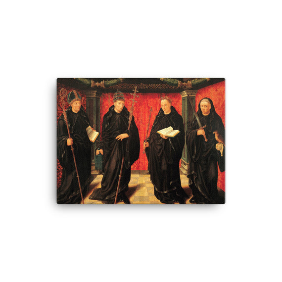 Benedictine Saints Boniface, Gregory the Great, Aldelbert of Egmond and Jerome