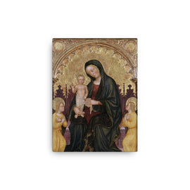 Enthroned Madonna and Child with Two Angels