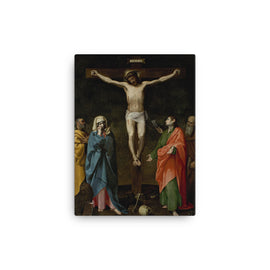 Crucifixion of Christ and Madonna, Saint John, Saint Mark and Saint Anthony the Abbot