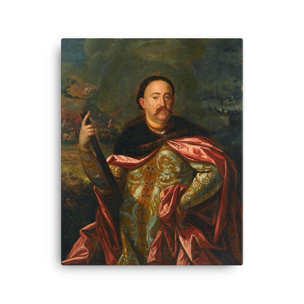 Portrait of John III Sobieski with the Battle in the Background