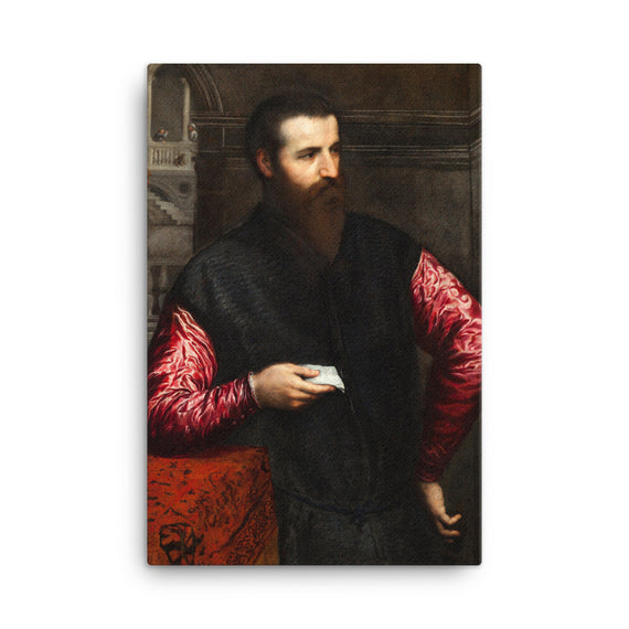 Portrait of a gentleman with red sleeves