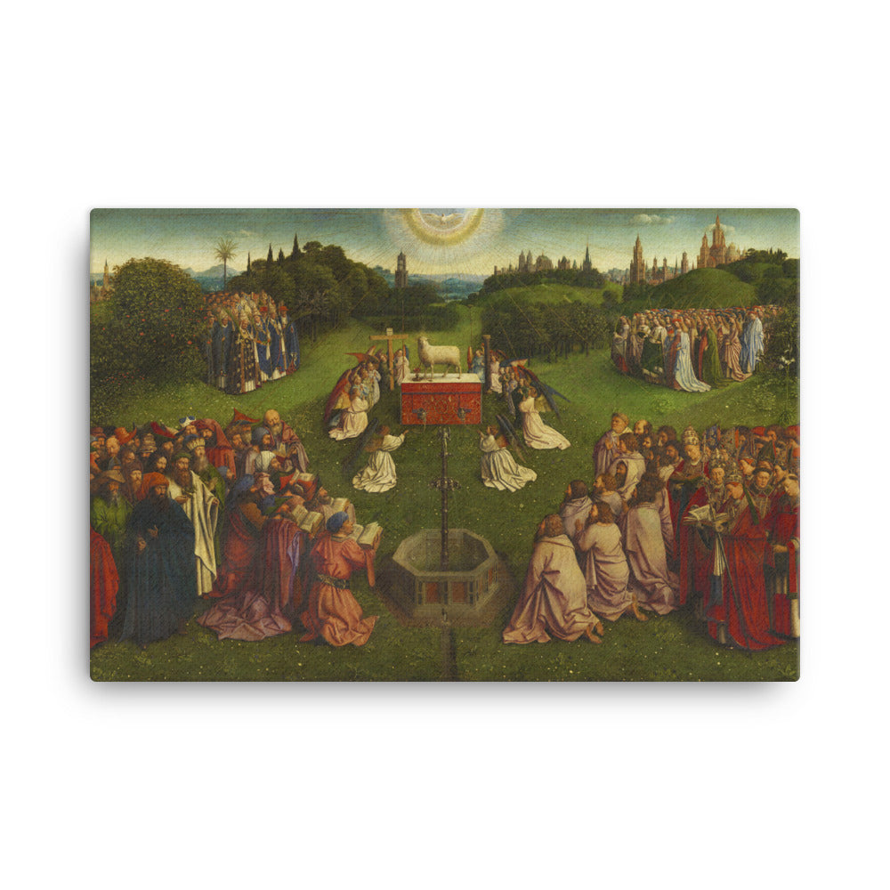 The Adoration of the Lamb - Ghent Altarpiece Extract