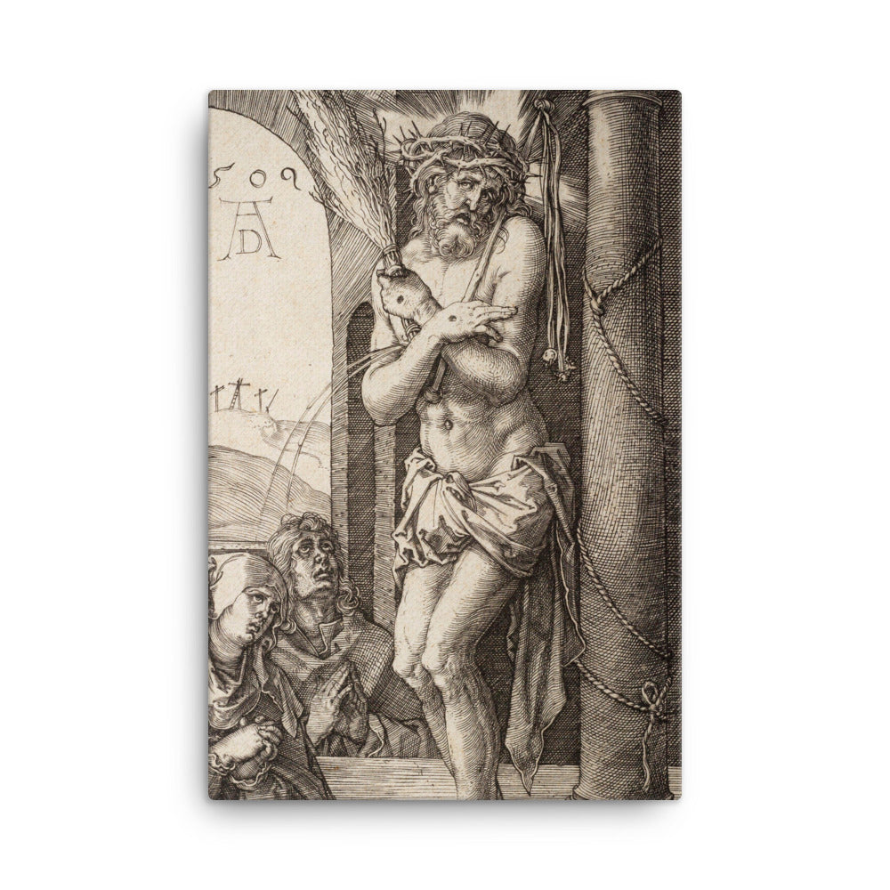 "The Man of Sorrows by the Column with the Virgin and St. John, from the ""Engraved Passion"""