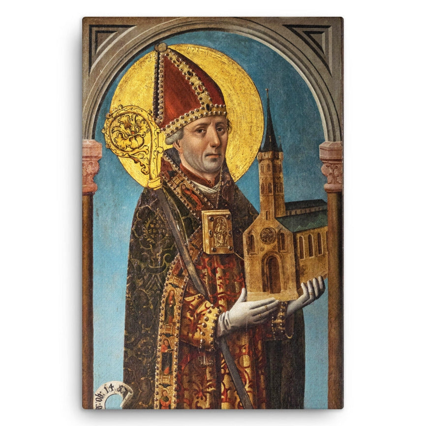 Panel painting of Saint Ansgar