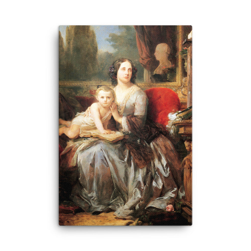 Maria Brignole-Sale, Duchess of Galliera, with her son Filippo