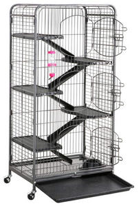 go2buy Metal 3-Door Ferret Cage Playpen