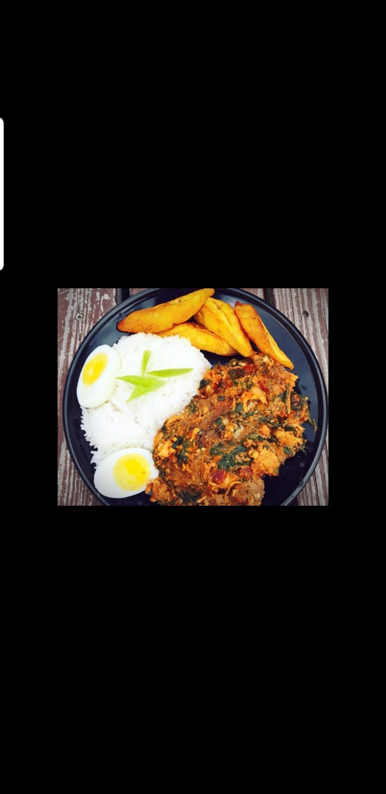 Kontomire (Spinach Stew) | Rice | Boiled Eggs