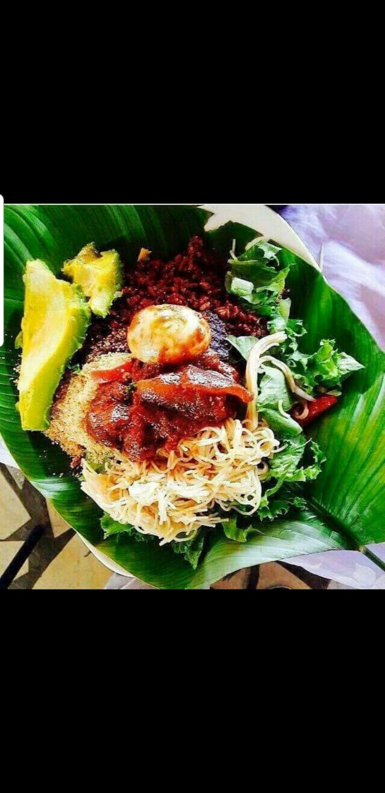 Waakye(Rice & Beans | Gari, Sphagetti| Fried Fish | Eggs| Stew
