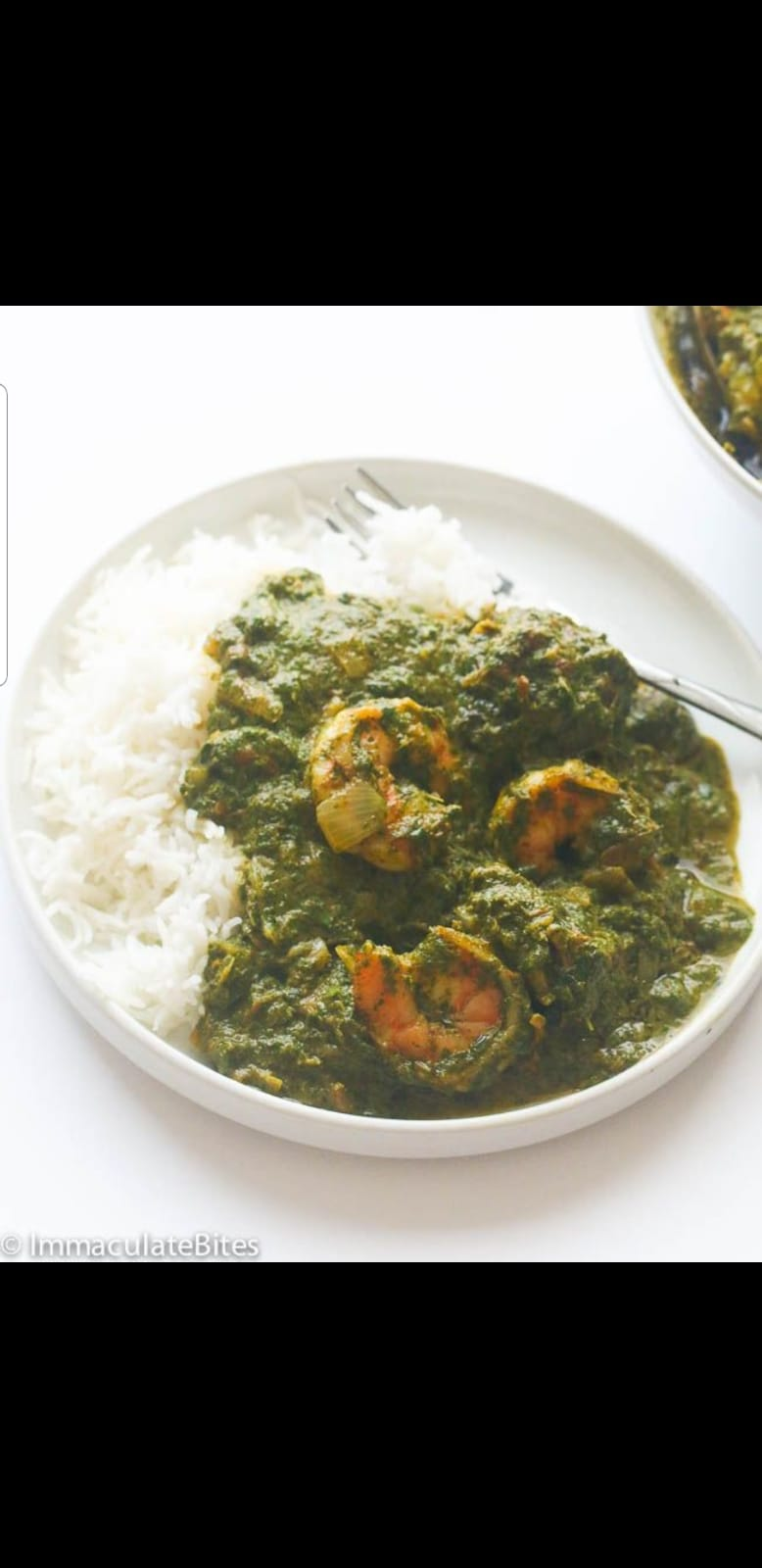 Cassava Leaves with White or Brown Cooked Rice