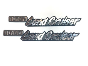 Left & Right side LANDCRUISER emblems (j40)