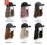 Cap Wig - Separated Type Wig Hat With Curly Synthetic Hair