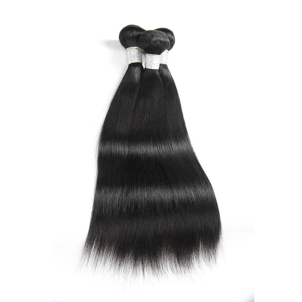 Human Hair - Brazilian Human Hair Bundles 18 Inches Straight 3pcs/100g*3