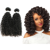 Human Hair - Brazilian Human Hair Bundles 8 Inches Kinky Curly 3pcs/100g*3