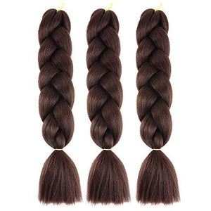 "Synthetic Hair Extension - 24"" Jumbo Braiding Hair Extension"