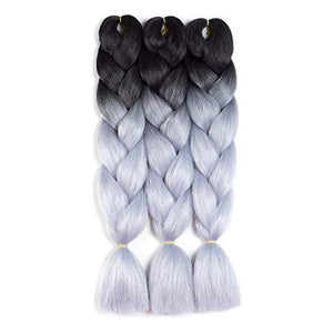 Synthetic Hair Extension - High Temperature Fiber Twist Braids Two Tone Color