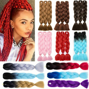 Synthetic Hair Extension - Jumbo Braiding Hair Extension Pure Color
