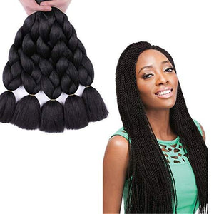 Synthetic Hair Extension - Natural Black Color Synthetic Braiding Hair